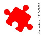 puzzle piece icon  vector... | Shutterstock .eps vector #1116400520