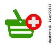 vector shopping basket... | Shutterstock .eps vector #1116400568