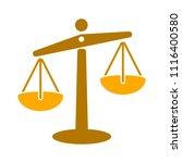 balance scale icon  balance... | Shutterstock .eps vector #1116400580