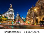 rays of traffic lights on gran... | Shutterstock . vector #111640076