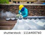 technician working renew the... | Shutterstock . vector #1116400760