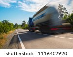 big truck on the road at full... | Shutterstock . vector #1116402920