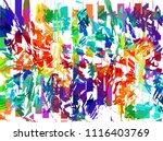 grunge art color painting... | Shutterstock .eps vector #1116403769