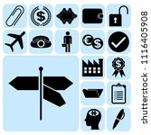 set of 17 business icons ... | Shutterstock .eps vector #1116405908
