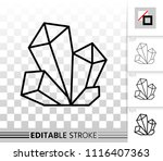 crystal thin line icon. outline ... | Shutterstock .eps vector #1116407363