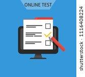online test  online exam ... | Shutterstock .eps vector #1116408224