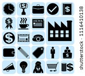 set of 22 business icons.... | Shutterstock .eps vector #1116410138