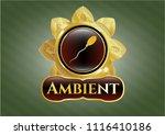golden emblem or badge with... | Shutterstock .eps vector #1116410186
