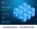 data center isometric vector... | Shutterstock .eps vector #1116412130
