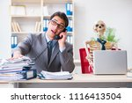 businessman working with... | Shutterstock . vector #1116413504