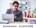 businessman working with... | Shutterstock . vector #1116413588
