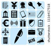 set of 22 business icons  high... | Shutterstock .eps vector #1116417518