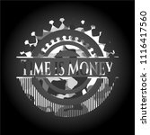 time is money on grey camo... | Shutterstock .eps vector #1116417560