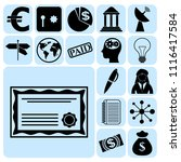 set of 17 business icons ... | Shutterstock .eps vector #1116417584