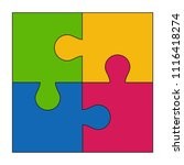 puzzle icon isolated on white... | Shutterstock .eps vector #1116418274