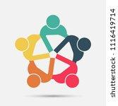 meeting room people logo.group... | Shutterstock .eps vector #1116419714