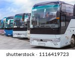 Tourist Buses On Parking On The ...