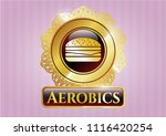 gold shiny emblem with... | Shutterstock .eps vector #1116420254