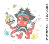 vector illustration of a cute...   Shutterstock .eps vector #1116420866