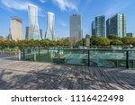 empty pavement and modern... | Shutterstock . vector #1116422498