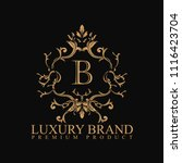 logo luxury with design element ... | Shutterstock .eps vector #1116423704