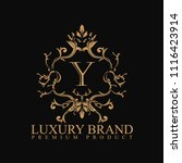logo luxury with design element ... | Shutterstock .eps vector #1116423914