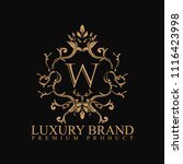 logo luxury with design element ... | Shutterstock .eps vector #1116423998