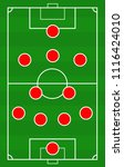 vector soccer field with the... | Shutterstock .eps vector #1116424010