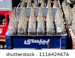 old dusty glass bottles of... | Shutterstock . vector #1116424676