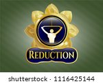 golden badge with lat pull... | Shutterstock .eps vector #1116425144