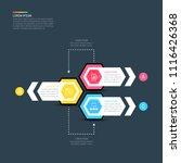 colorful infographic design... | Shutterstock .eps vector #1116426368