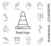 the traffic cone symbol design... | Shutterstock .eps vector #1116428390