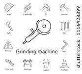 angle grinder symbol design... | Shutterstock .eps vector #1116428399