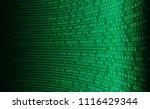 binary circuit board future... | Shutterstock .eps vector #1116429344