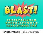 trendy 3d comical font design ... | Shutterstock .eps vector #1116431909