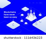 cryptocurrency and blockchain... | Shutterstock .eps vector #1116436223