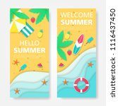set of summer vector banner... | Shutterstock .eps vector #1116437450