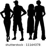 group of friends   Shutterstock .eps vector #11164378