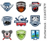 set of soccer  basketball ... | Shutterstock .eps vector #1116437879
