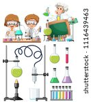 scientist researching in... | Shutterstock .eps vector #1116439463