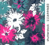 abstract seamless floral... | Shutterstock .eps vector #1116444683