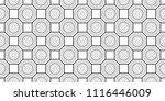 black and white seamless... | Shutterstock . vector #1116446009