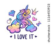 t shirt design for girl.... | Shutterstock .eps vector #1116453923