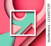 abstract minimal geometric... | Shutterstock .eps vector #1116457139