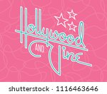 hollywood and vine retro vector ... | Shutterstock .eps vector #1116463646