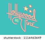 hollywood and vine retro vector ... | Shutterstock .eps vector #1116463649
