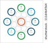 vector infographic template for ...   Shutterstock .eps vector #1116464564