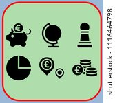 simple 6 icon set of business... | Shutterstock .eps vector #1116464798