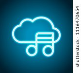 simple icon with cloud and... | Shutterstock .eps vector #1116470654
