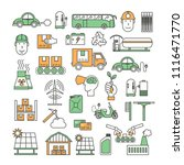 ecological factory and... | Shutterstock .eps vector #1116471770